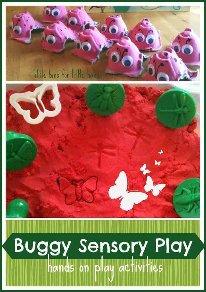 Bug Filled Tuesday Throw it Together Trays & Sensory Bin