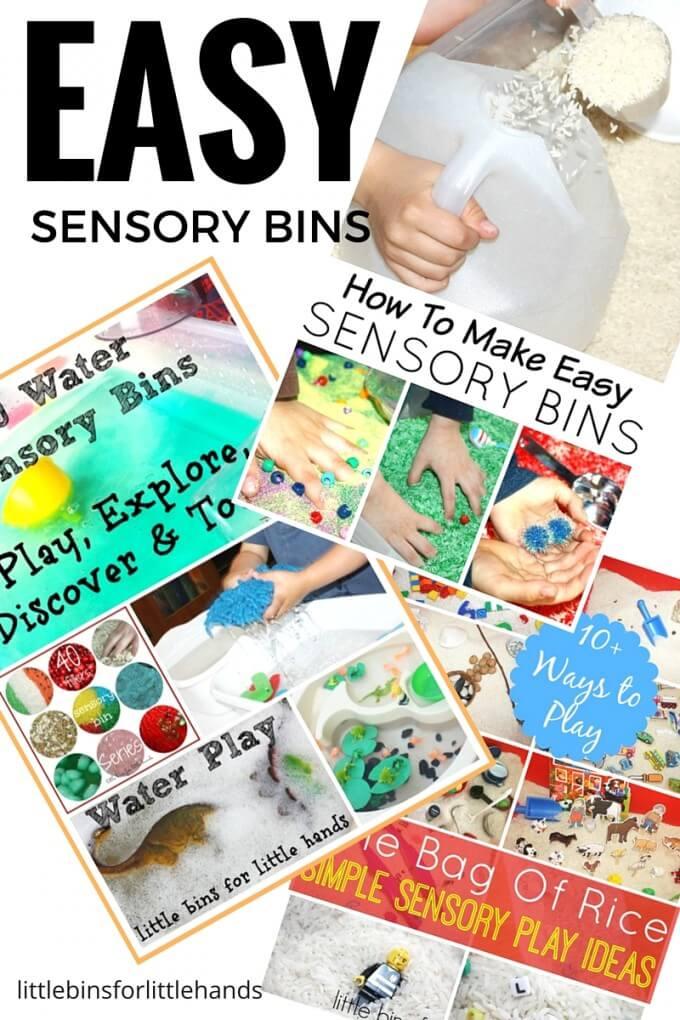 EASY SENSORY BINS for Easy Sensory Play Ideas