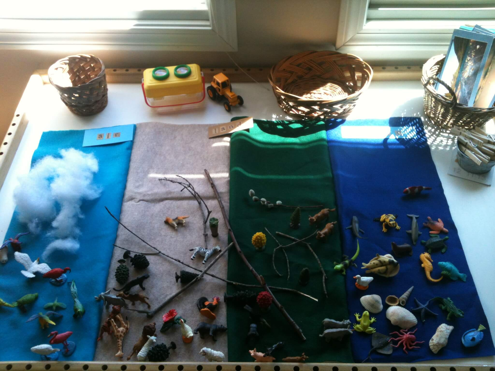 Earth Sensory Table: Air, Land & Water