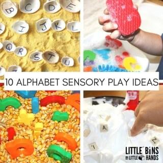 10 ALPHABET SENSORY PLAY IDEAS
