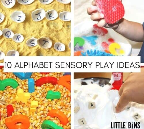 Simple Alphabet Sensory Play