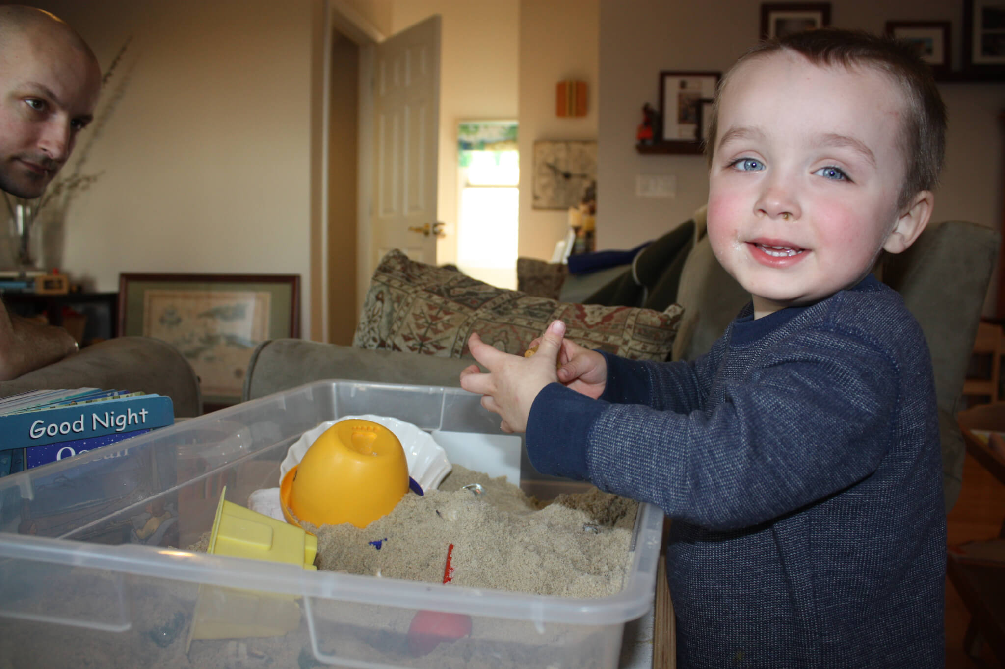 Wordless Wednesday: Capturing Moments of Past Sensory Bins
