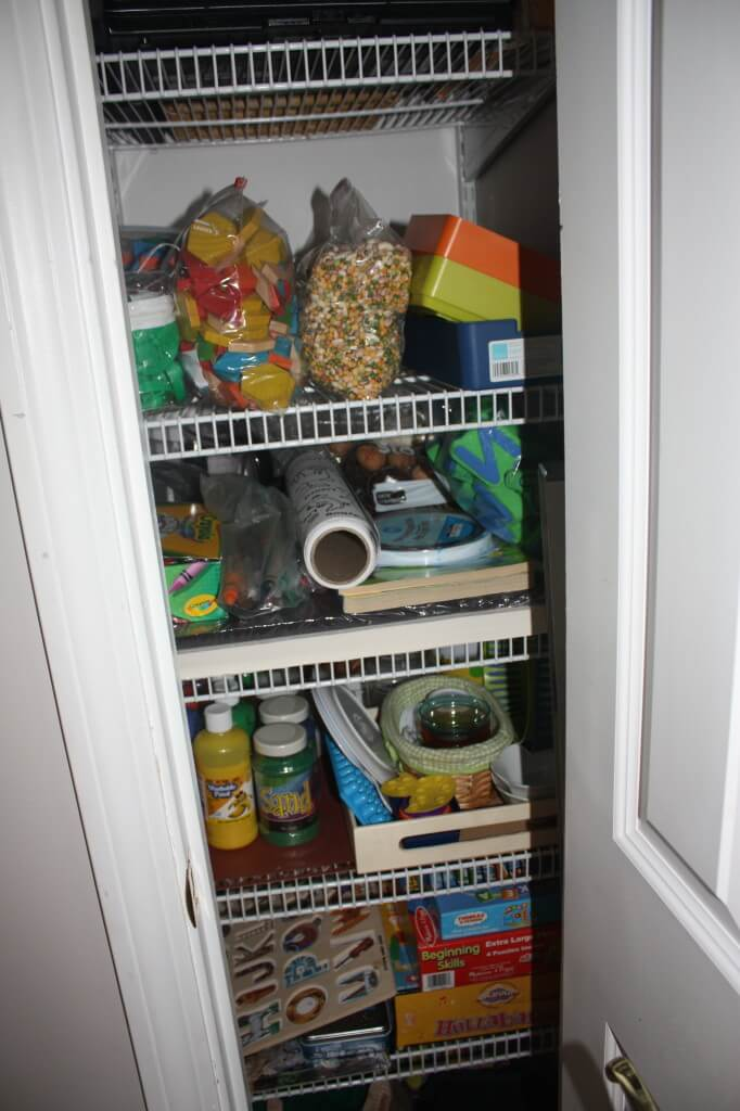 Organizing Sensory Bins: A peek inside out closet