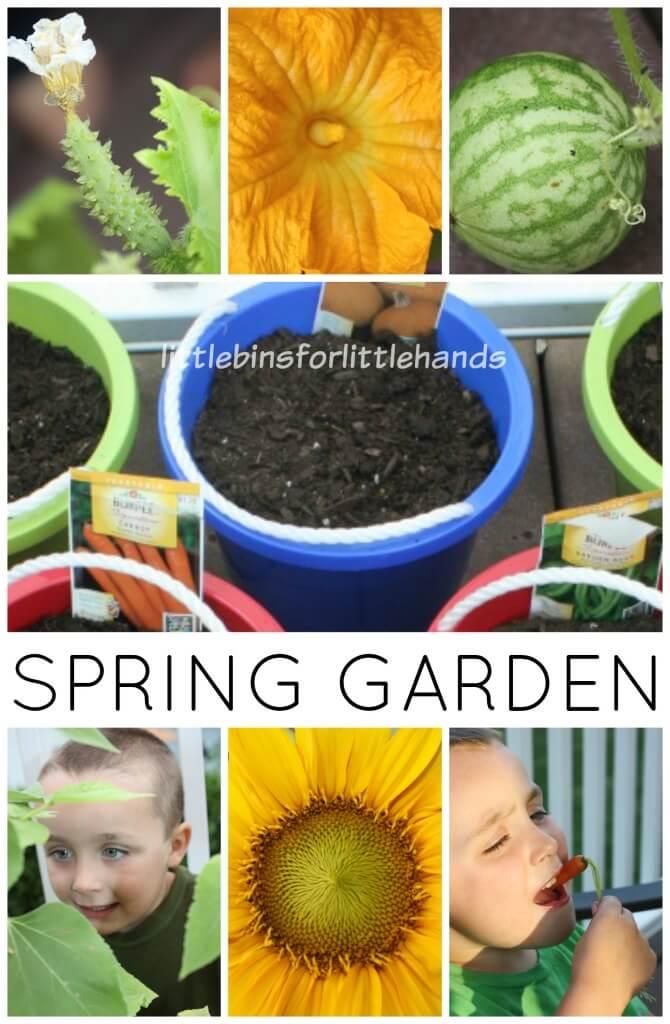 Spring Garden Activity Surprise Garden Book Activity