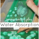 Water Sensory Science Experiment with cotton balls