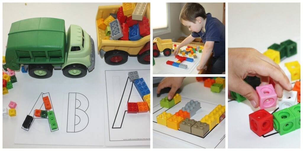 alphabet fun play lego letters trucks