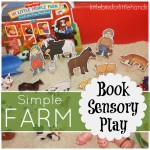 farm book sensory play sensory bin
