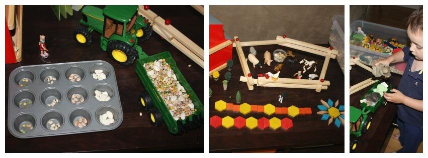 farm sensory bin hands on play activities