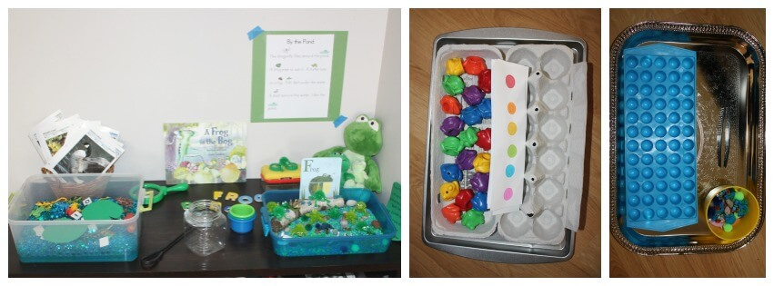 froggy sensory play set up