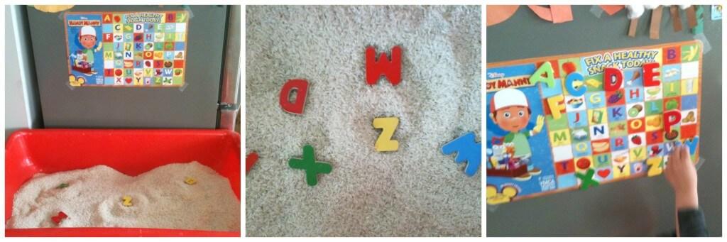 super simple rice alphabet