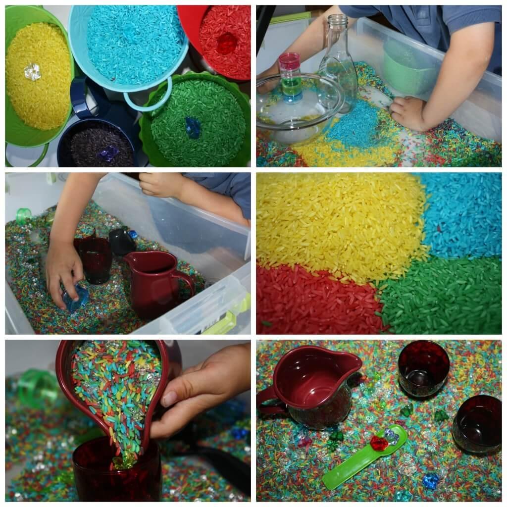 super simple rice rainbow