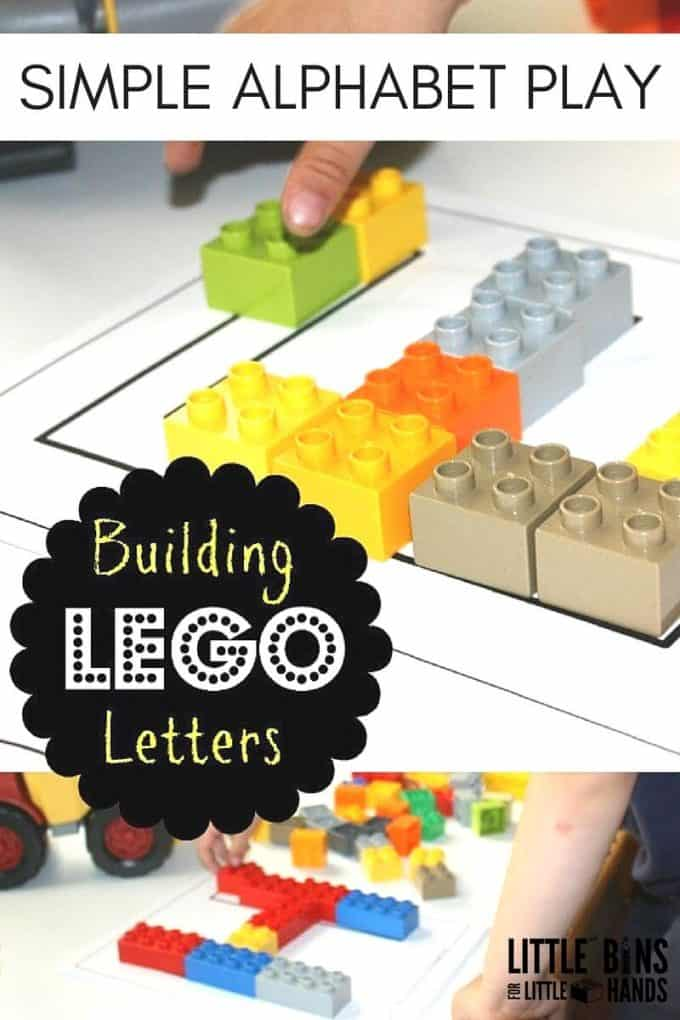 LEGO Unifix Alphabet Activity for Preschool