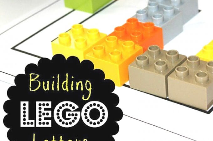 LEGO And Unifix Alphabet Building Activity For Kids