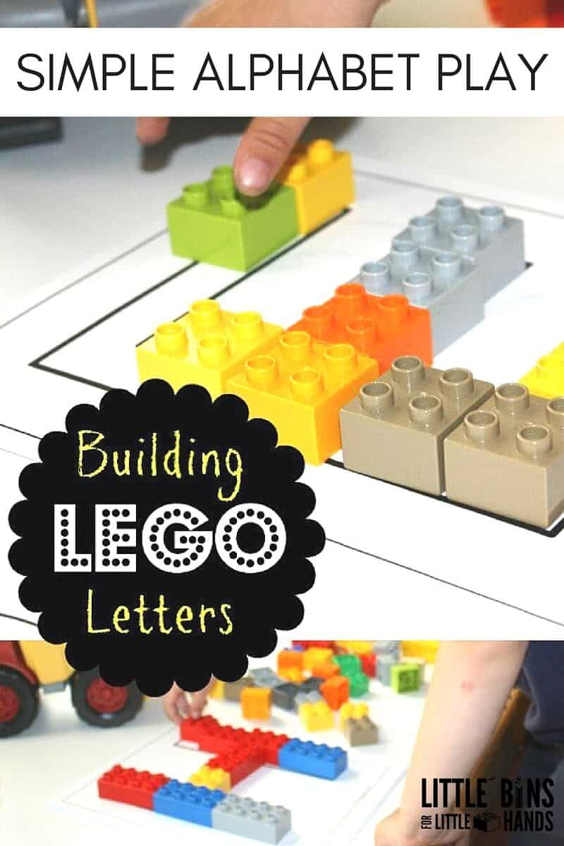Lego And Unifix Alphabet Building Letters Activity