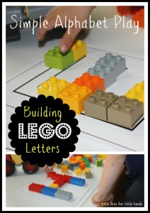 Lego letter Building Activity