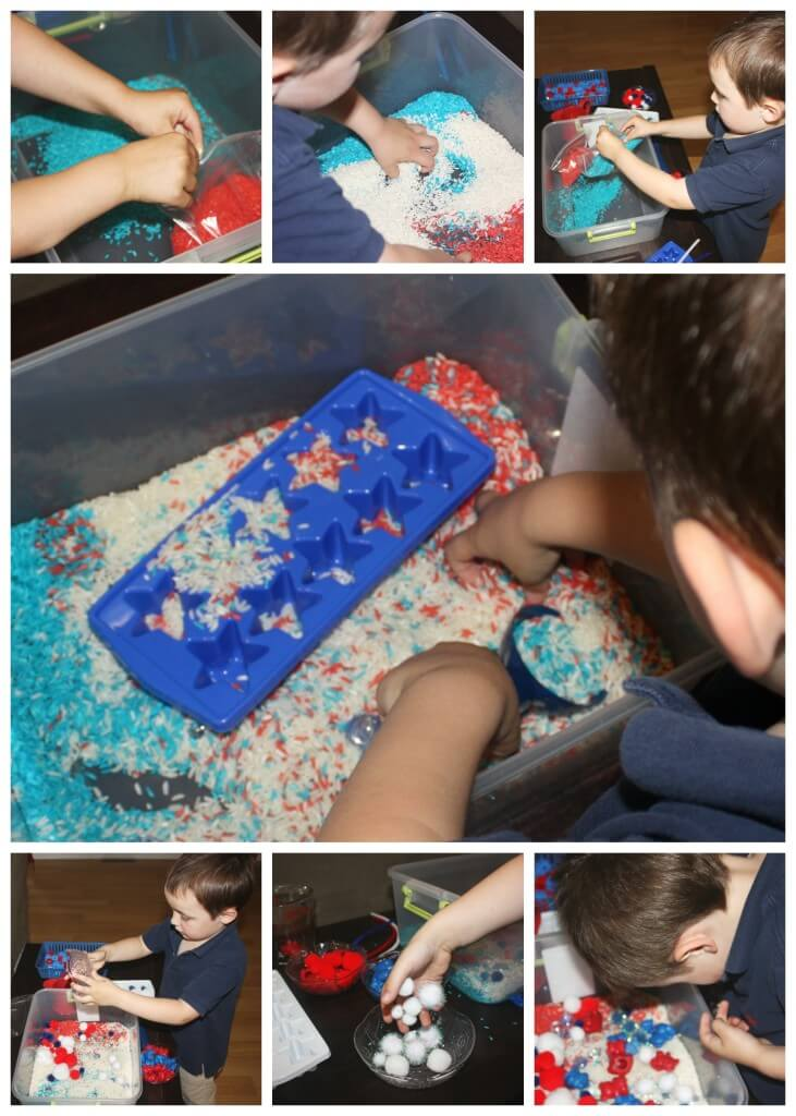 Patriotic Sensory Play Making A Sensory Bin