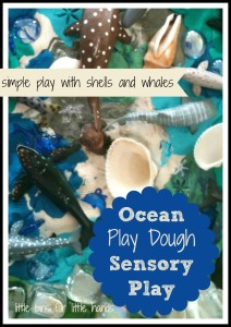Whales and Shells Play Dough Play