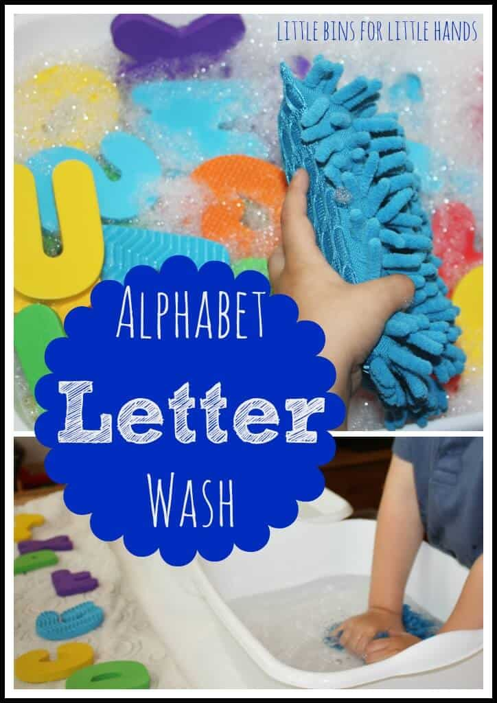 alphabet letter wash sensory activity