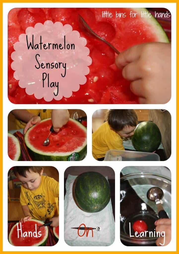 watermelon sensory play