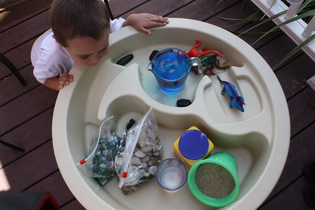 Dinosaur Sensory Bin for Preschool