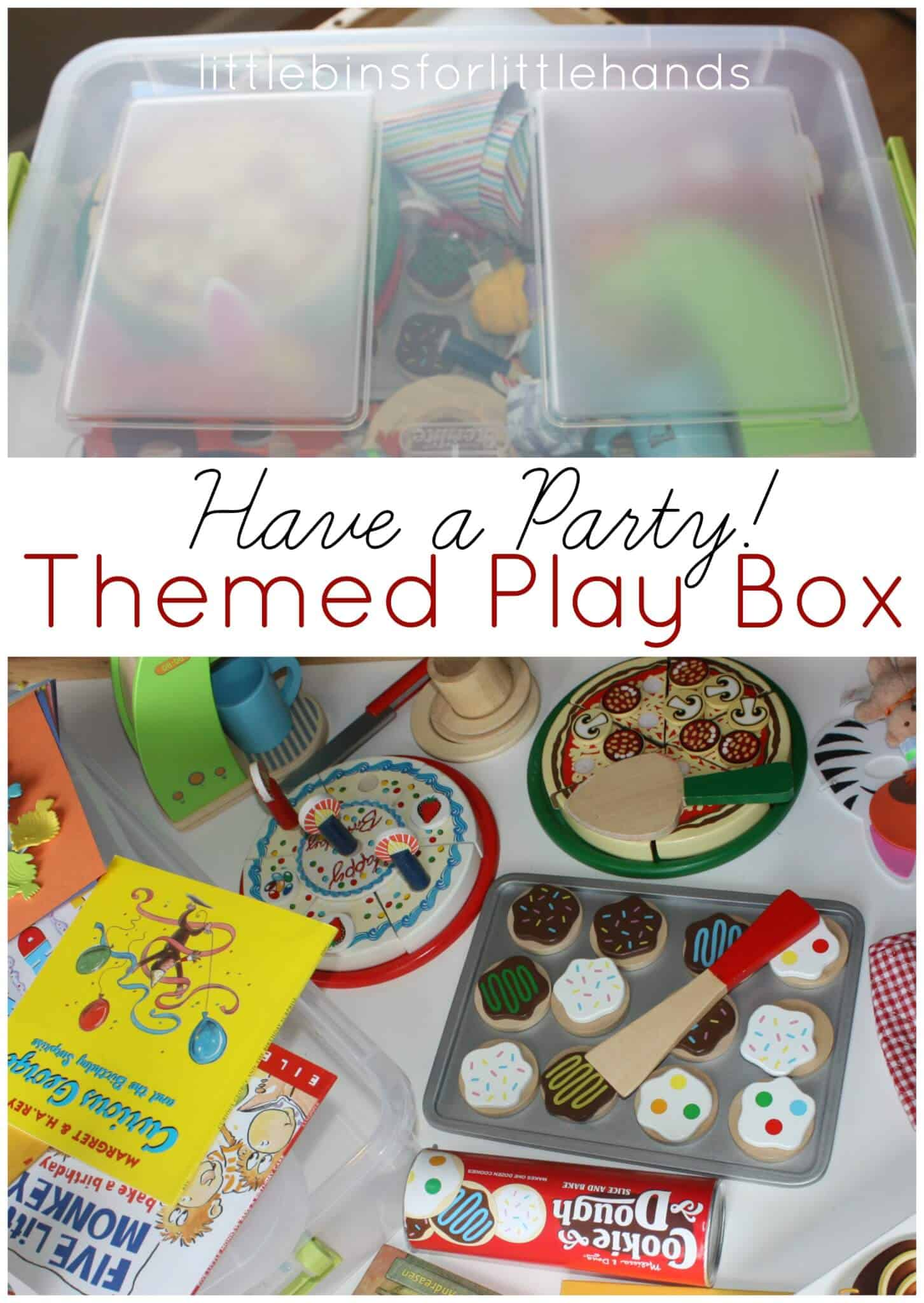 Dramatic Play Pretend Party Theme Box