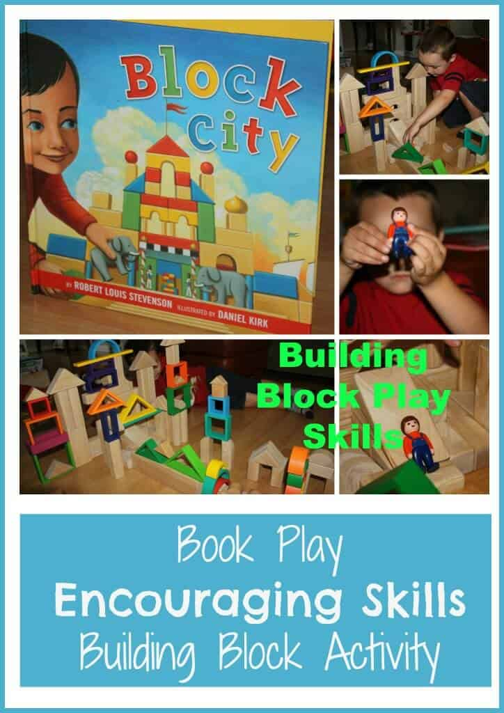 Block building skills activity for young kids with the book Block City