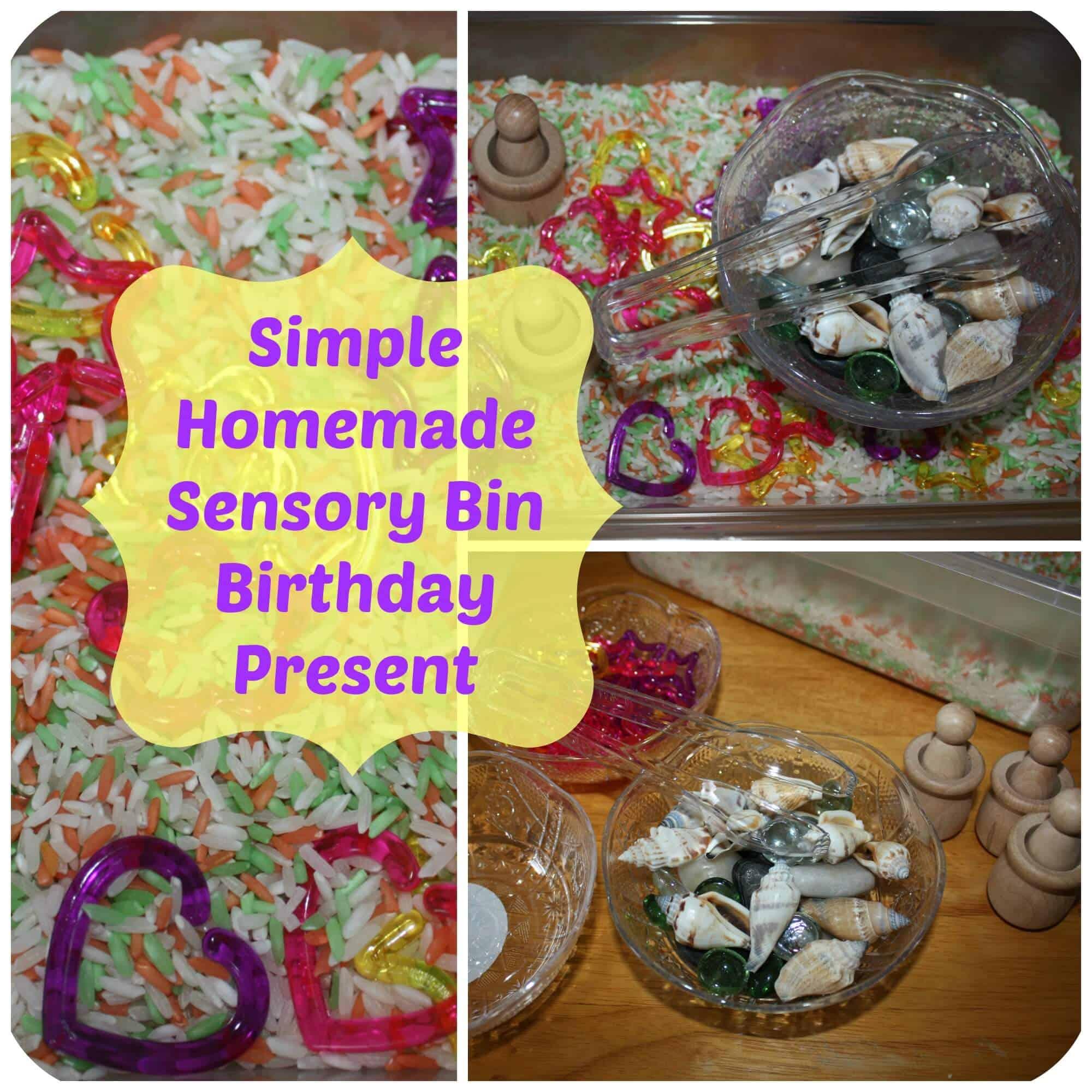 Homemade Present Sensory Bin: A Gift of Exploration