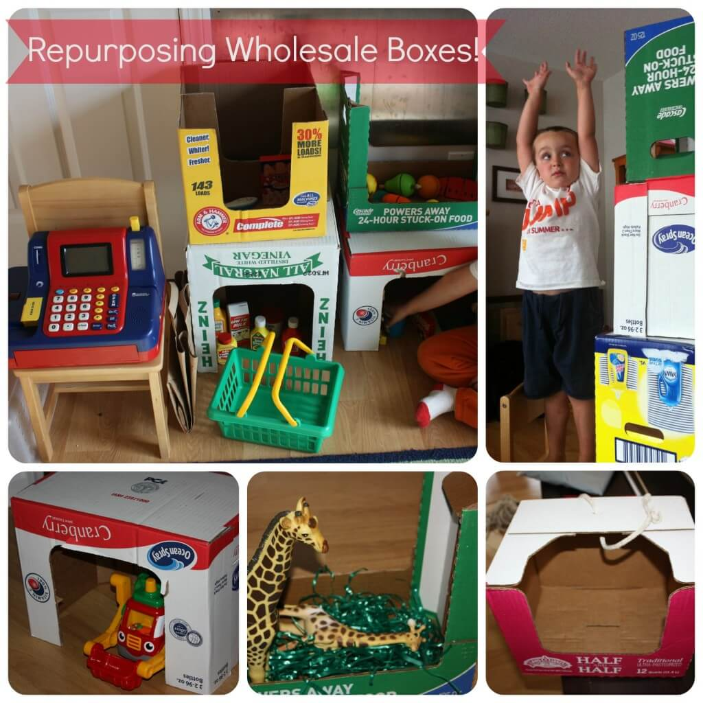 repurpose wholesale food boxes for creative play activities