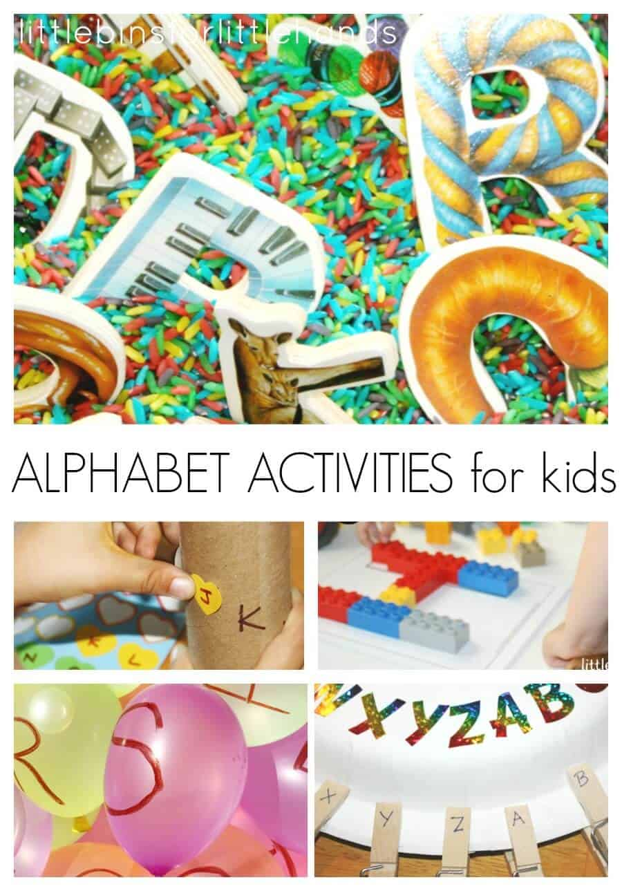 Back to school alphabet activities for kids for Educational crafts for toddlers