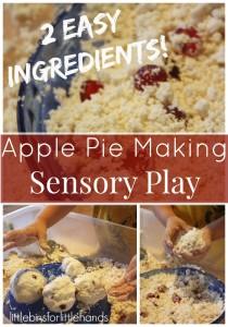 Apple Pie Making Cloud Dough Sensory play
