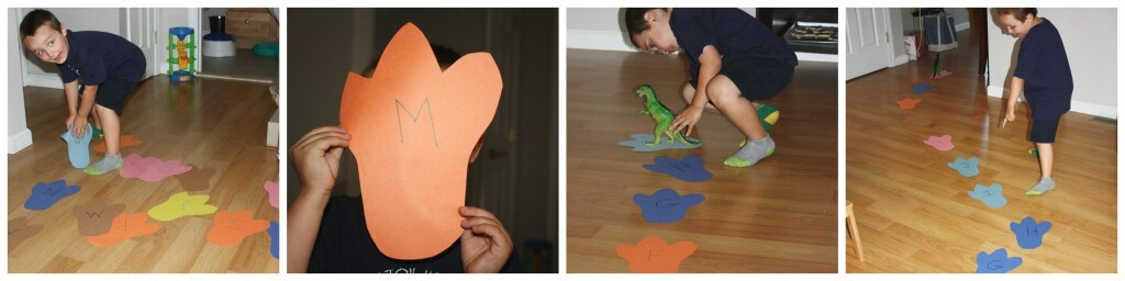 alphabet footprint game
