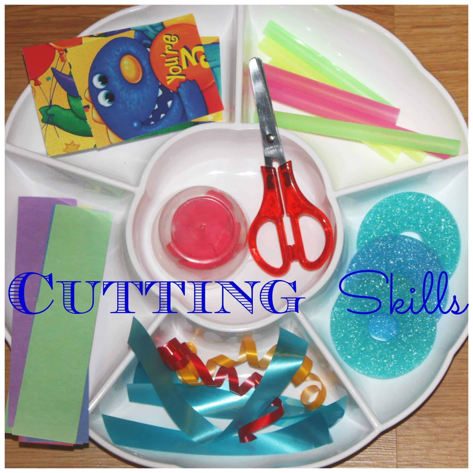 cutting skills tray