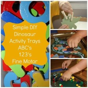 dinosaur activity trays