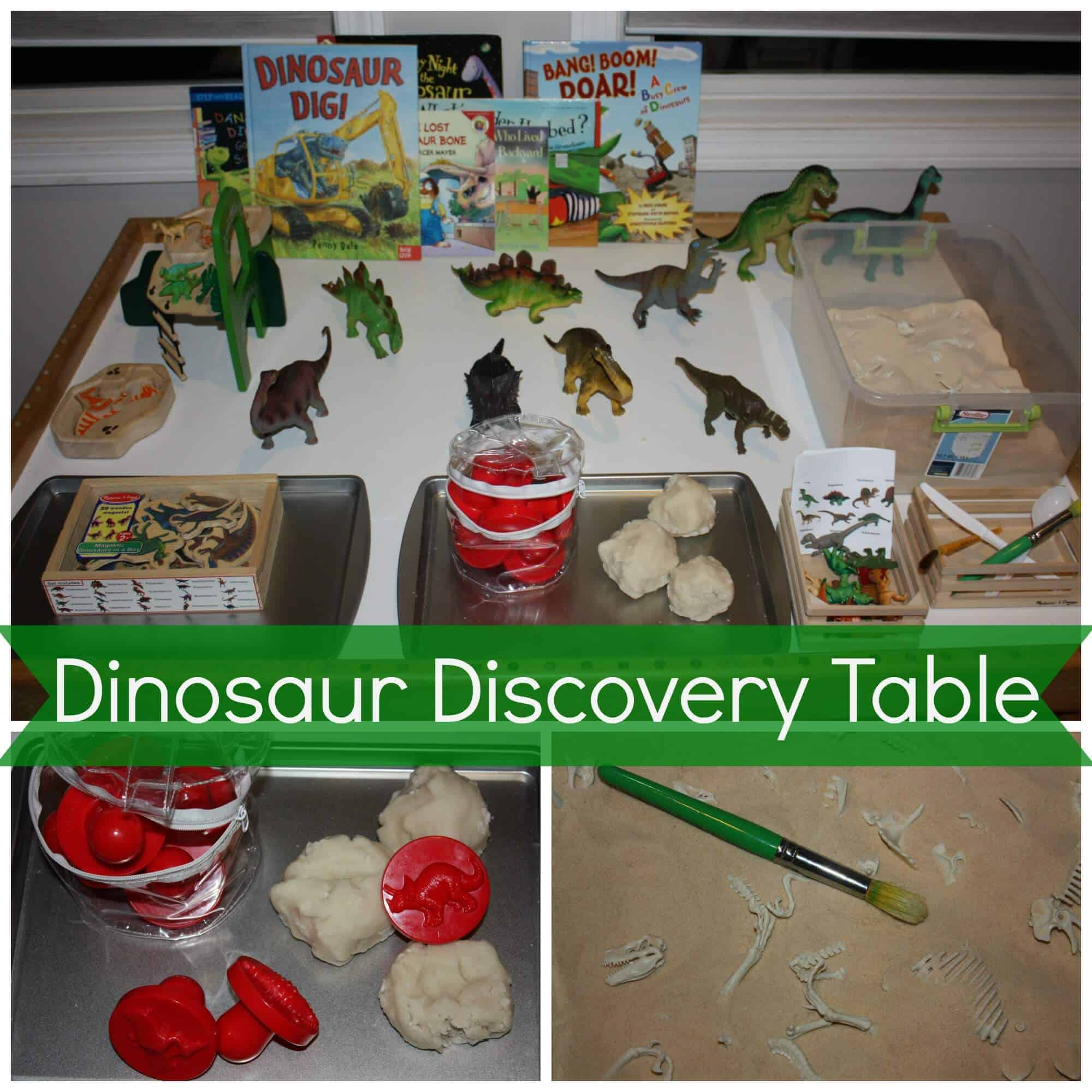 Preschool Dinosaur Discovery Table | Little Bins for ...