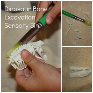 dinosaur activities - dino dig for bones