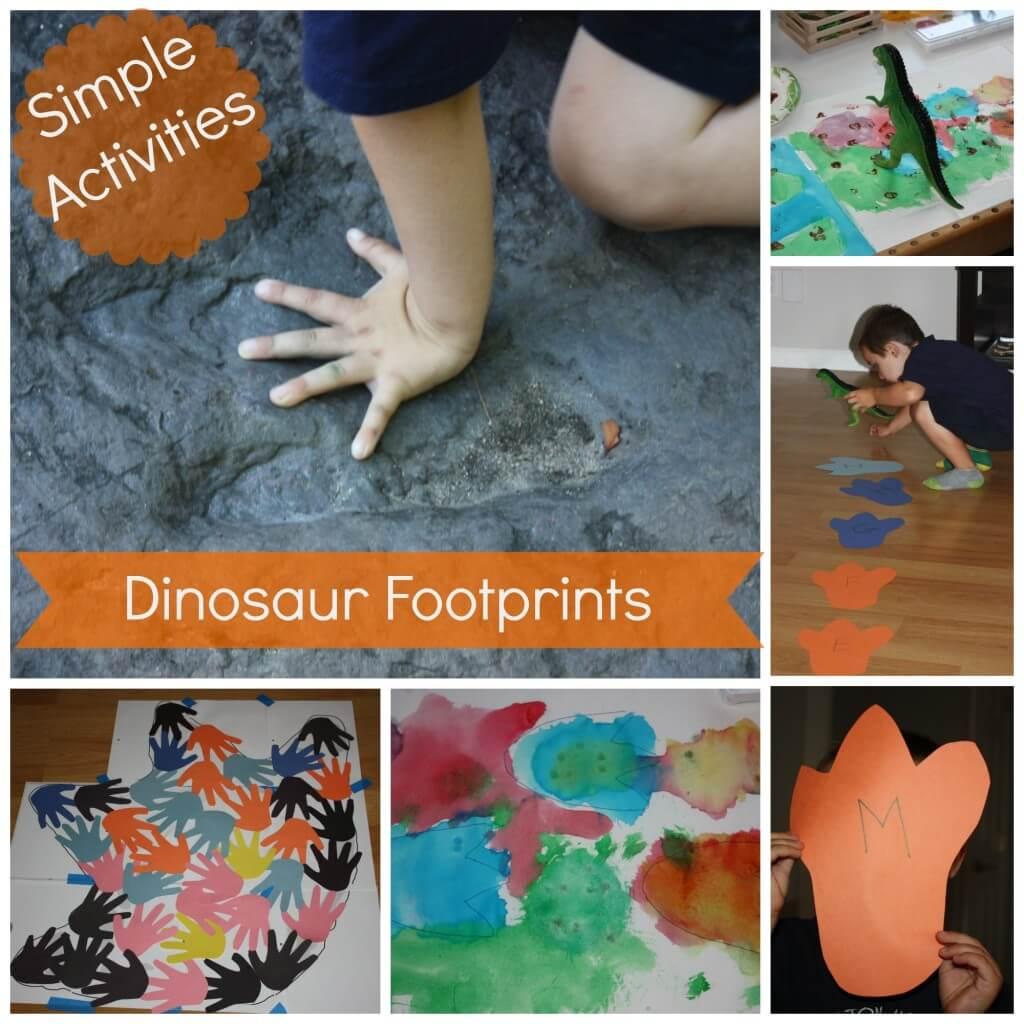Simple & Fun Dinosaur Footprint Activities   Little Bins ...