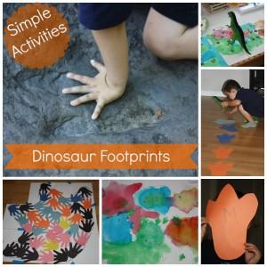 dinosaur footprint activities