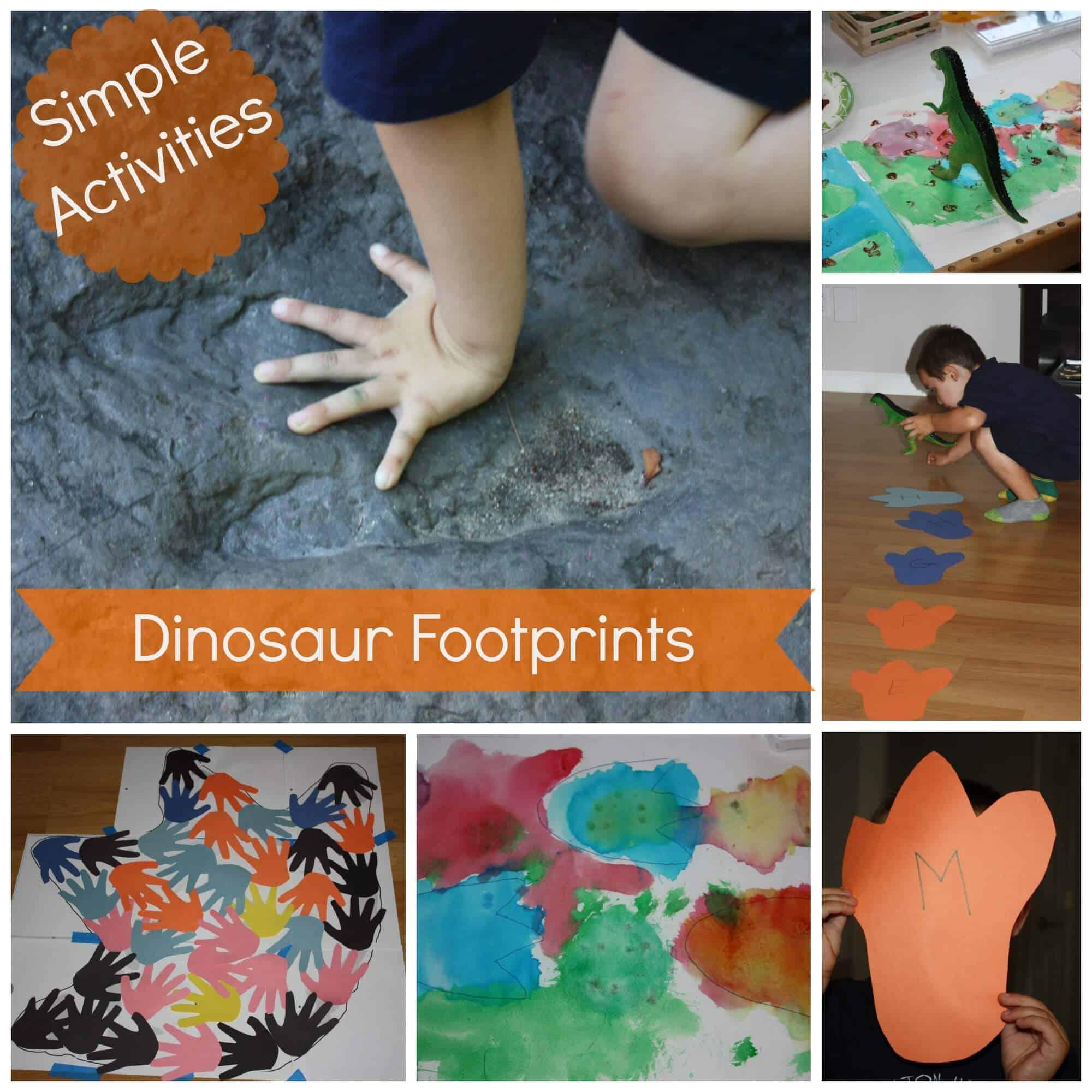 Dinosaur Footprint Activities and Dinosaur STEAM for Kids