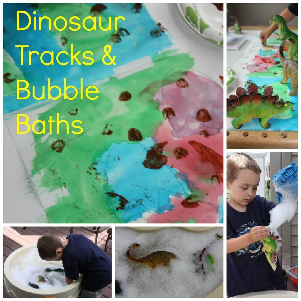 dinosaur tracks and bubble baths
