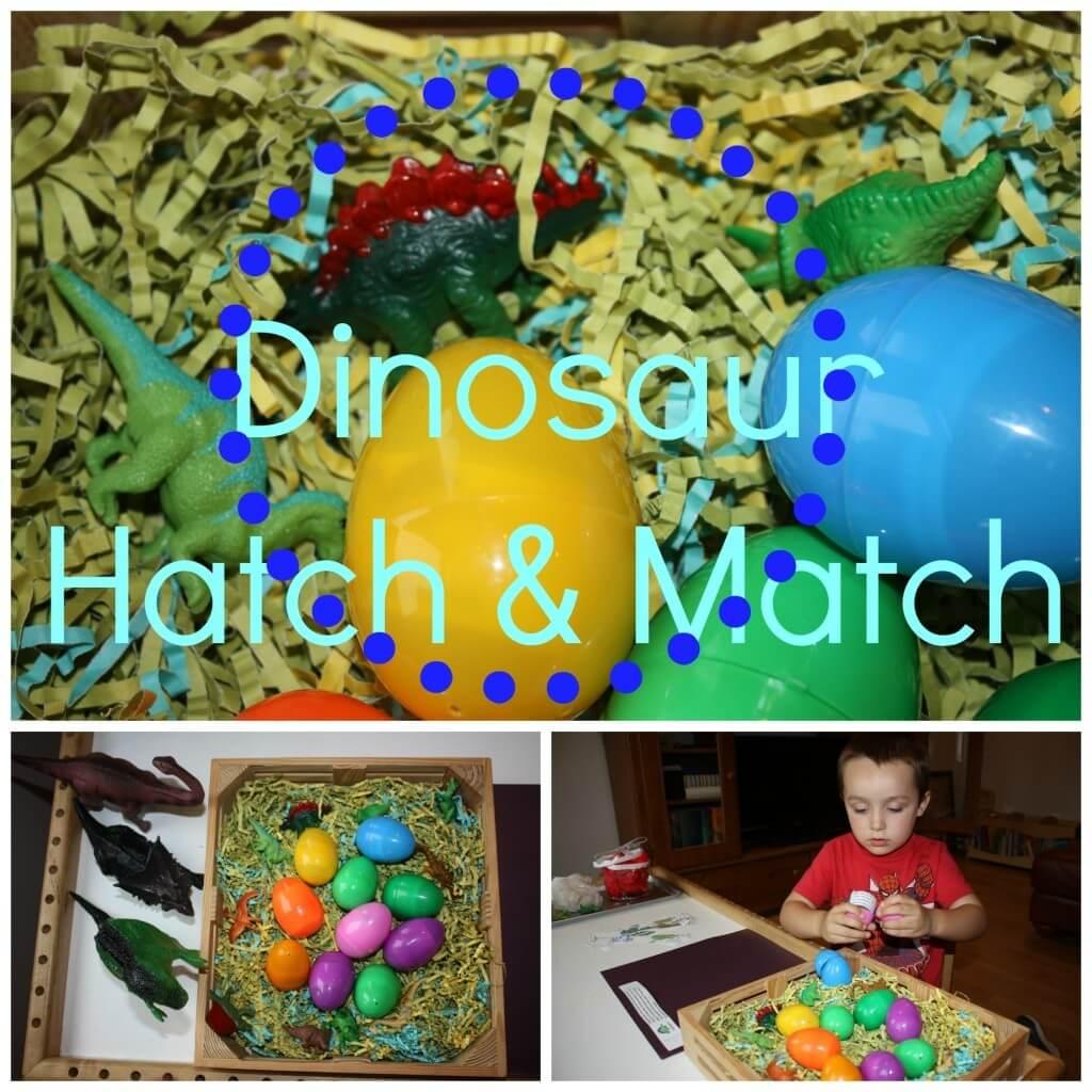 dinosaur play hatch match more little bins for little hands. Black Bedroom Furniture Sets. Home Design Ideas