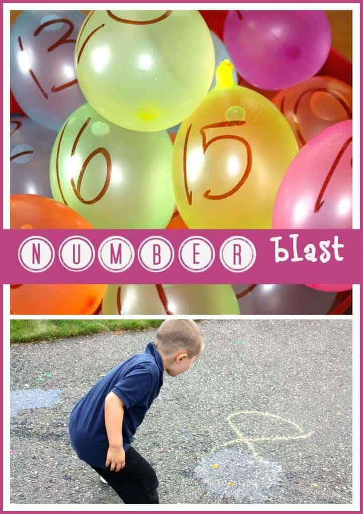 Water Balloon Number Blast Activity for Summer