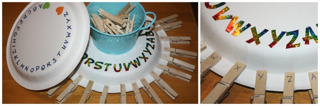 paper plate letter play