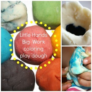 play dough coloring