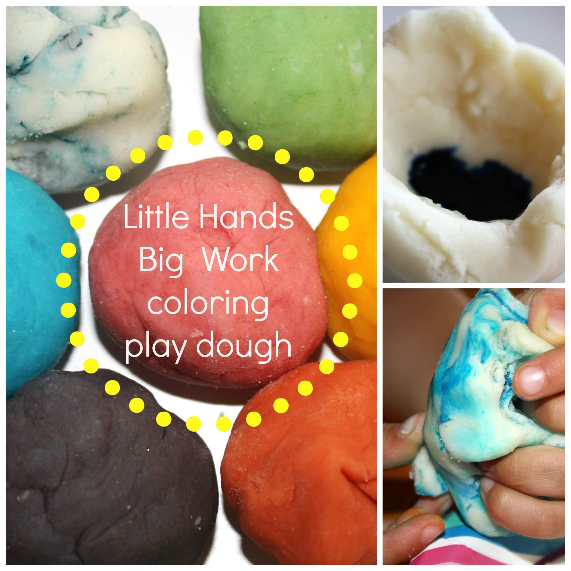 Making Colored Play Dough & Mixing Colors