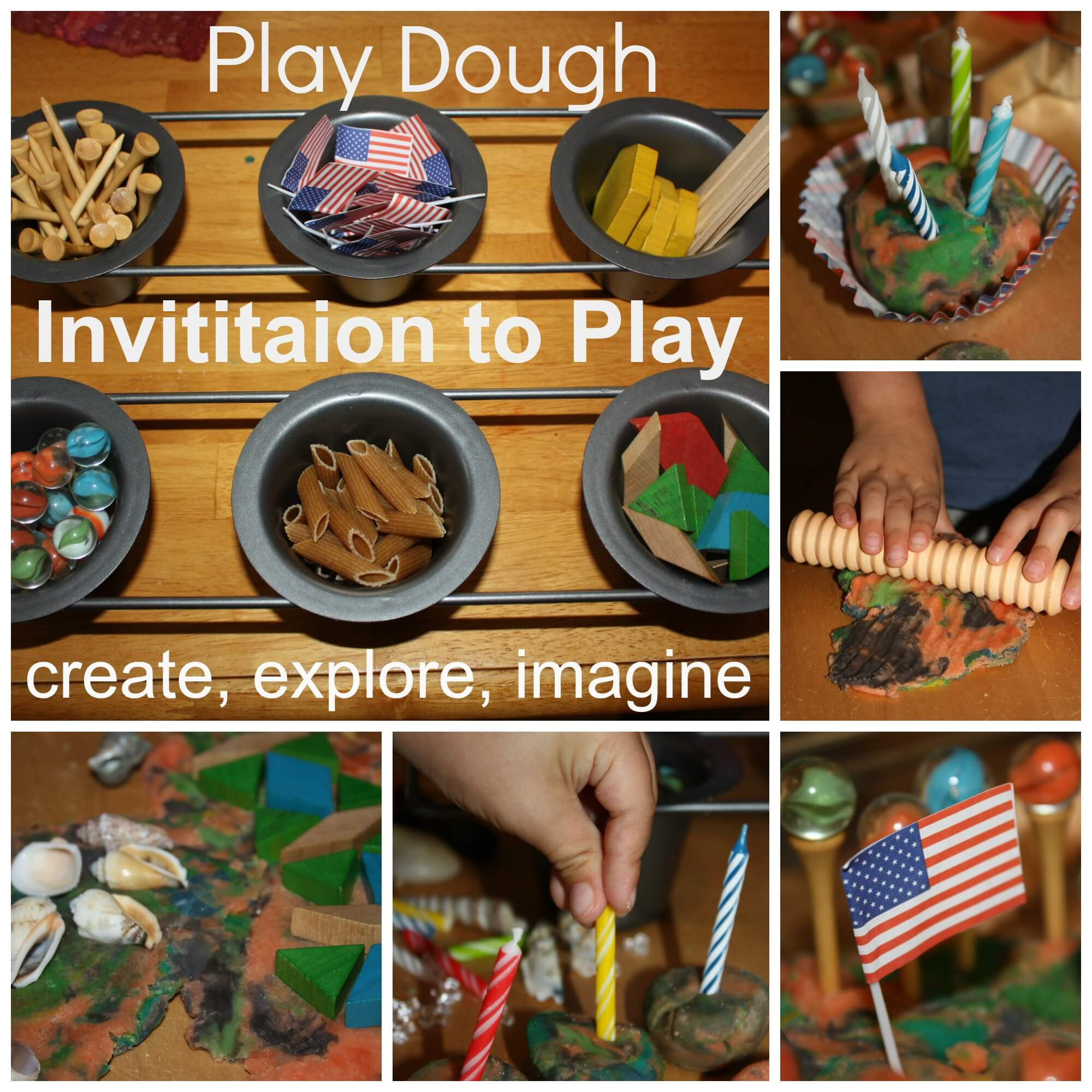 Homemade Play Dough Invitation to Play