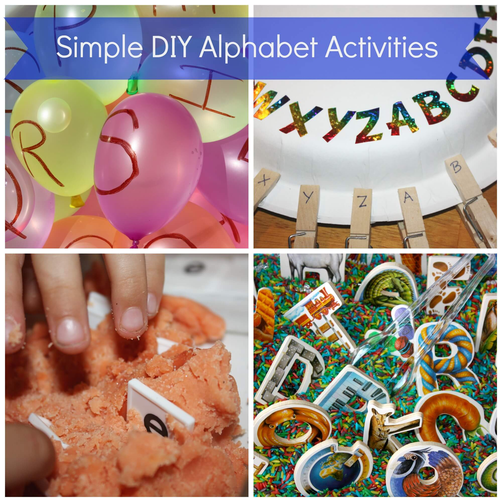 Simple Alphabet Play Dough Activity Tray Little Bins For