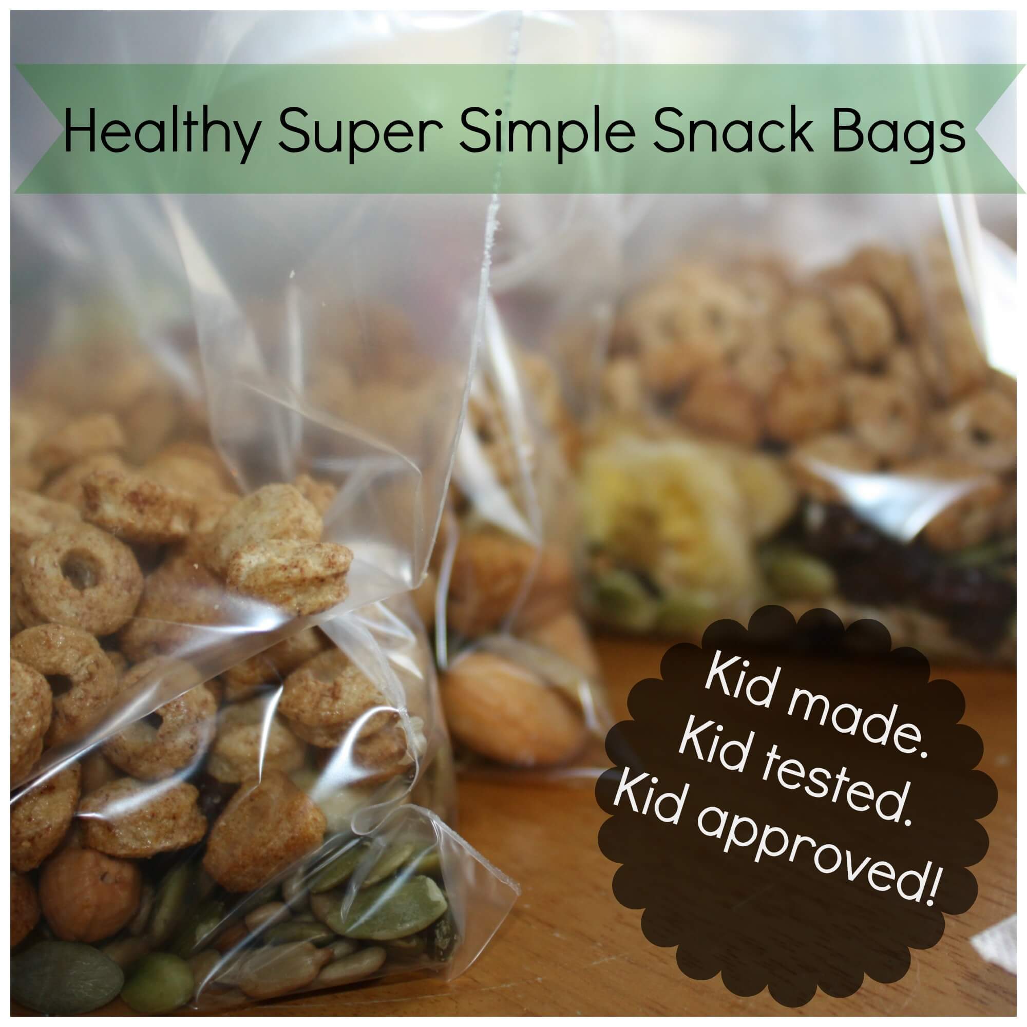 Preparing Snack Bags for Anytime Snacks