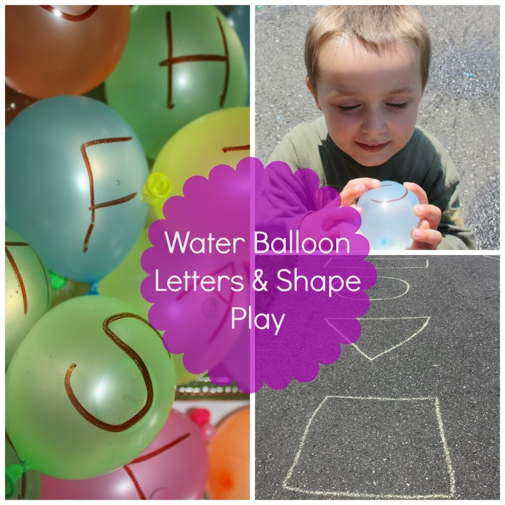 water balloon letter & shape play