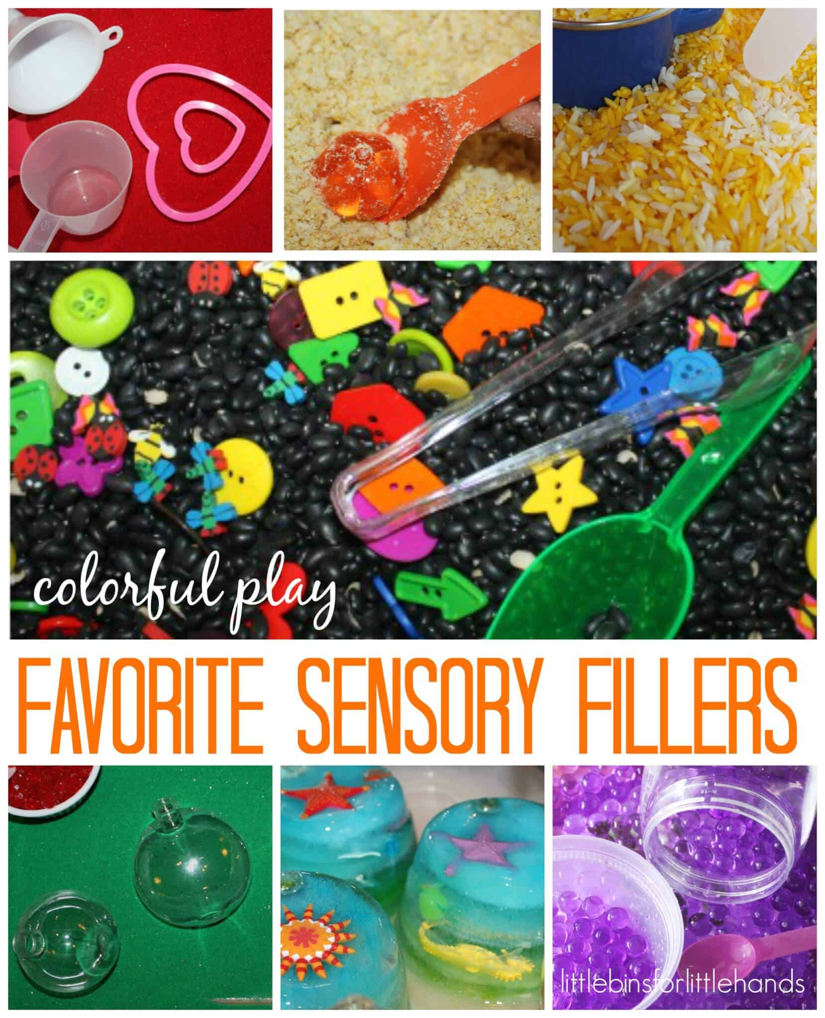 3af58732b6a64 10 Best Sensory Bin Fillers For Sensory Play | Little Bins for ...