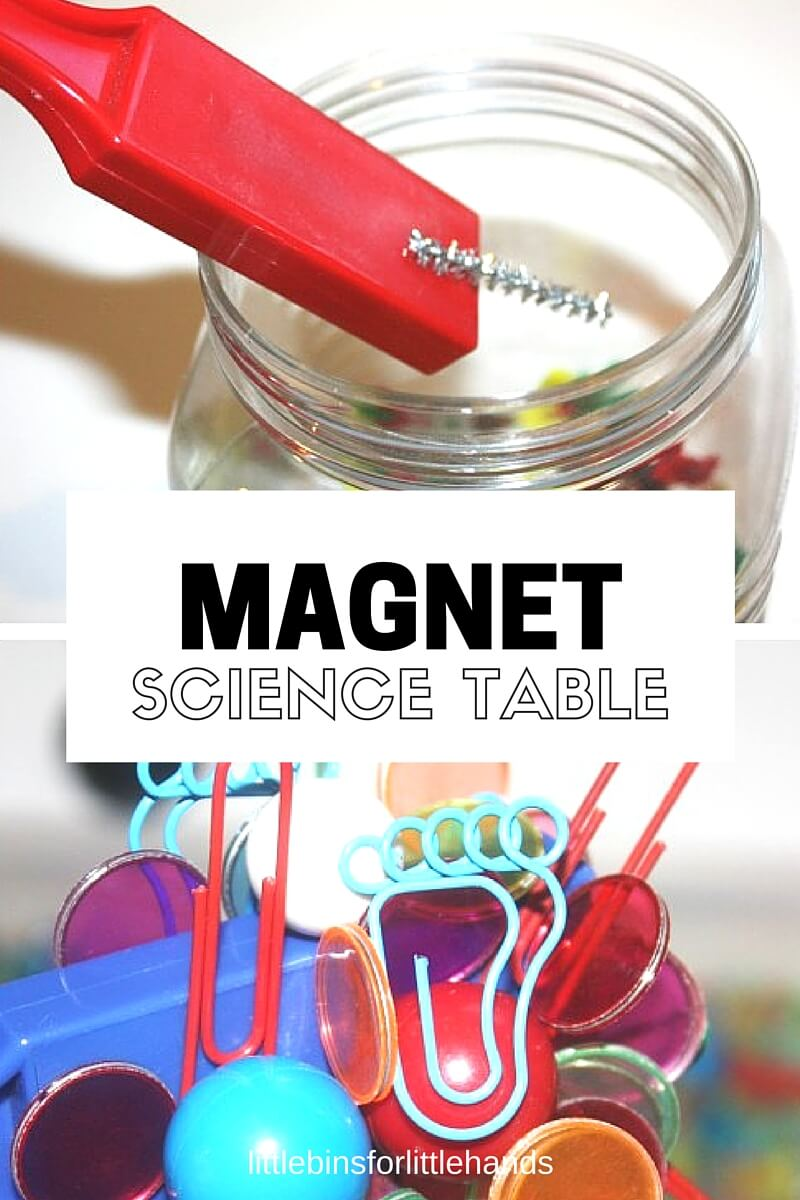 magnets table exploring preschool science discovery center littlebinsforlittlehands